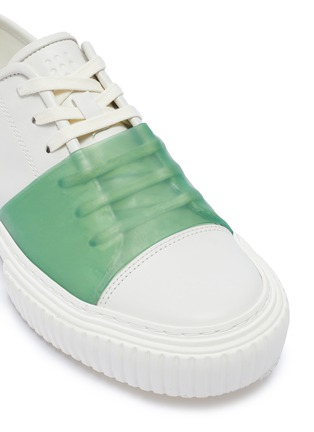 Detail View - Click To Enlarge - BOTH - 'PRO TEC' contrast rubber panel leather sneakers