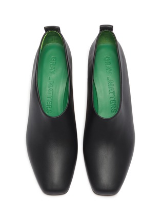 Detail View - Click To Enlarge - GRAY MATTERS - 'Micol' spring heel choked-up leather pumps