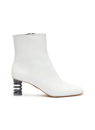 Main View - Click To Enlarge - GRAY MATTERS - 'Molla' spring heel leather ankle boots