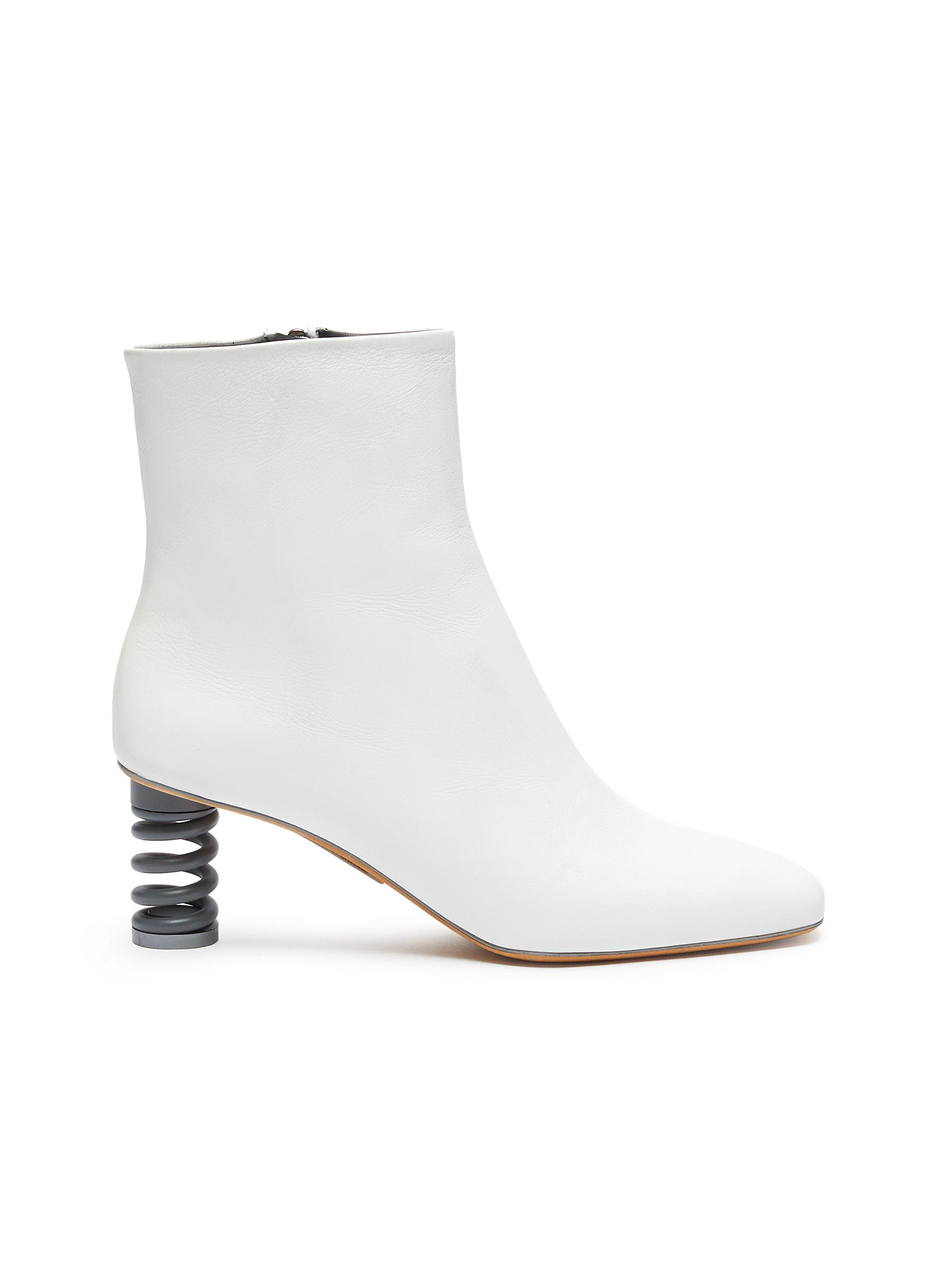 Molla spring heel leather ankle boots by Gray Matters