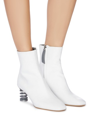 Figure View - Click To Enlarge - GRAY MATTERS - 'Molla' spring heel leather ankle boots