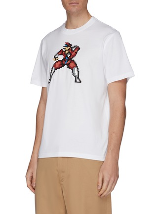 Front View - Click To Enlarge - MOSTLY HEARD RARELY SEEN - Textured fighting captain print unisex T-shirt
