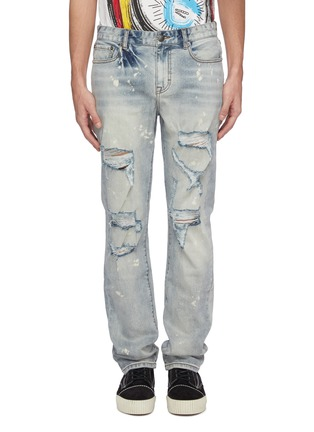 Main View - Click To Enlarge - HACULLA - Graphic chenille patch ripped jeans