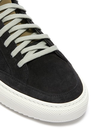 Detail View - Click To Enlarge - P448 - 'Soho' neoprene layered suede sneakers