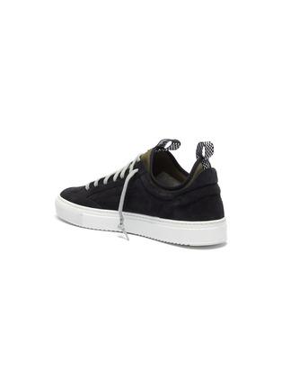 - P448 - 'Soho' neoprene layered suede sneakers