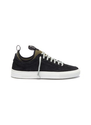 Main View - Click To Enlarge - P448 - 'Soho' neoprene layered suede sneakers