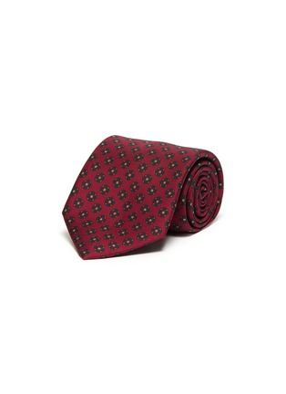 Main View - Click To Enlarge - DRAKE'S - Floral print silk tie