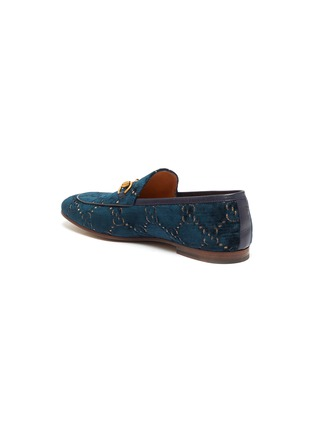 - GUCCI - 'New Jordaan' GG embroidered horsebit velvet loafers