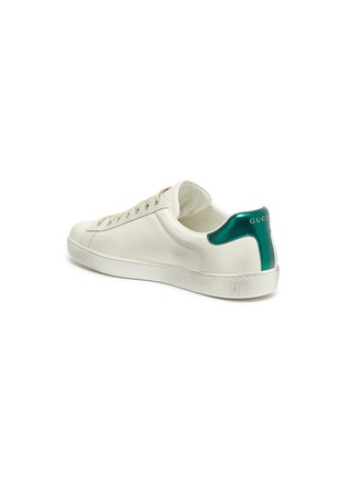 - GUCCI - 'New Ace' logo print distressed leather sneakers