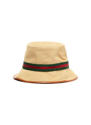 5bf24bbca Web stripe canvas bucket hat