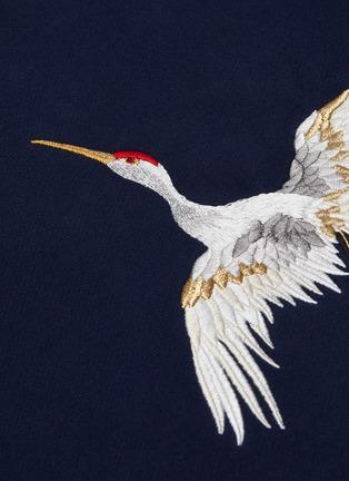 - ANGEL CHEN - Crane embroidered hoodie