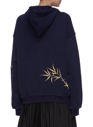 Back View - Click To Enlarge - ANGEL CHEN - Crane embroidered hoodie