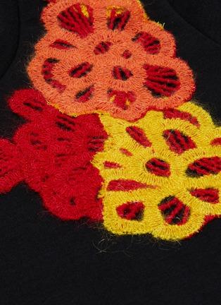 - ANGEL CHEN - x Woolmark floral appliqué T-shirt