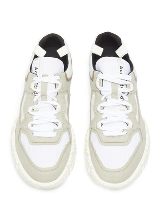 Detail View - Click To Enlarge - ACNE STUDIOS - Chunky outsole suede panel mesh sneakers
