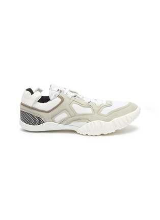 Main View - Click To Enlarge - ACNE STUDIOS - Chunky outsole suede panel mesh sneakers