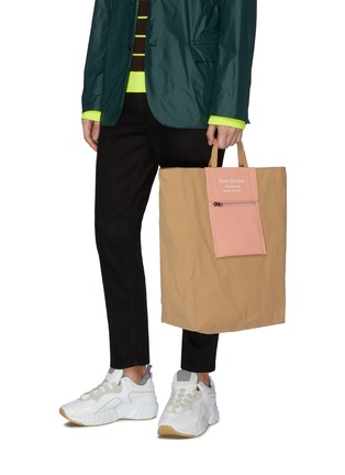 Figure View - Click To Enlarge - ACNE STUDIOS - Logo print large tote bag