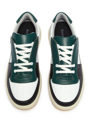 Detail View - Click To Enlarge - ACNE STUDIOS - 'Perey' patchwork colourblock sneakers