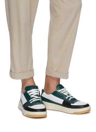 Figure View - Click To Enlarge - ACNE STUDIOS - 'Perey' patchwork colourblock sneakers
