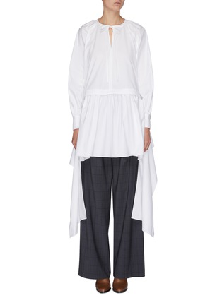 Main View - Click To Enlarge - JW ANDERSON - Neck tie panelled drape dress