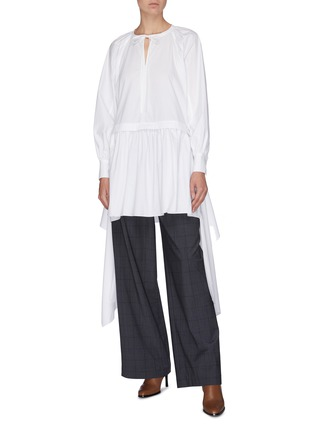 Figure View - Click To Enlarge - JW ANDERSON - Neck tie panelled drape dress