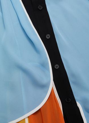 - JW ANDERSON - Colourblock panel handkerchief shirt dress