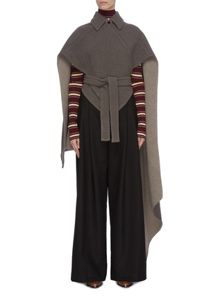 Main View - Click To Enlarge - JW ANDERSON - Cross wrap belted cape