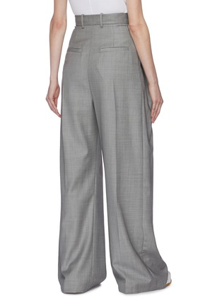 Back View - Click To Enlarge - JW ANDERSON - Pleated wide leg suiting pants
