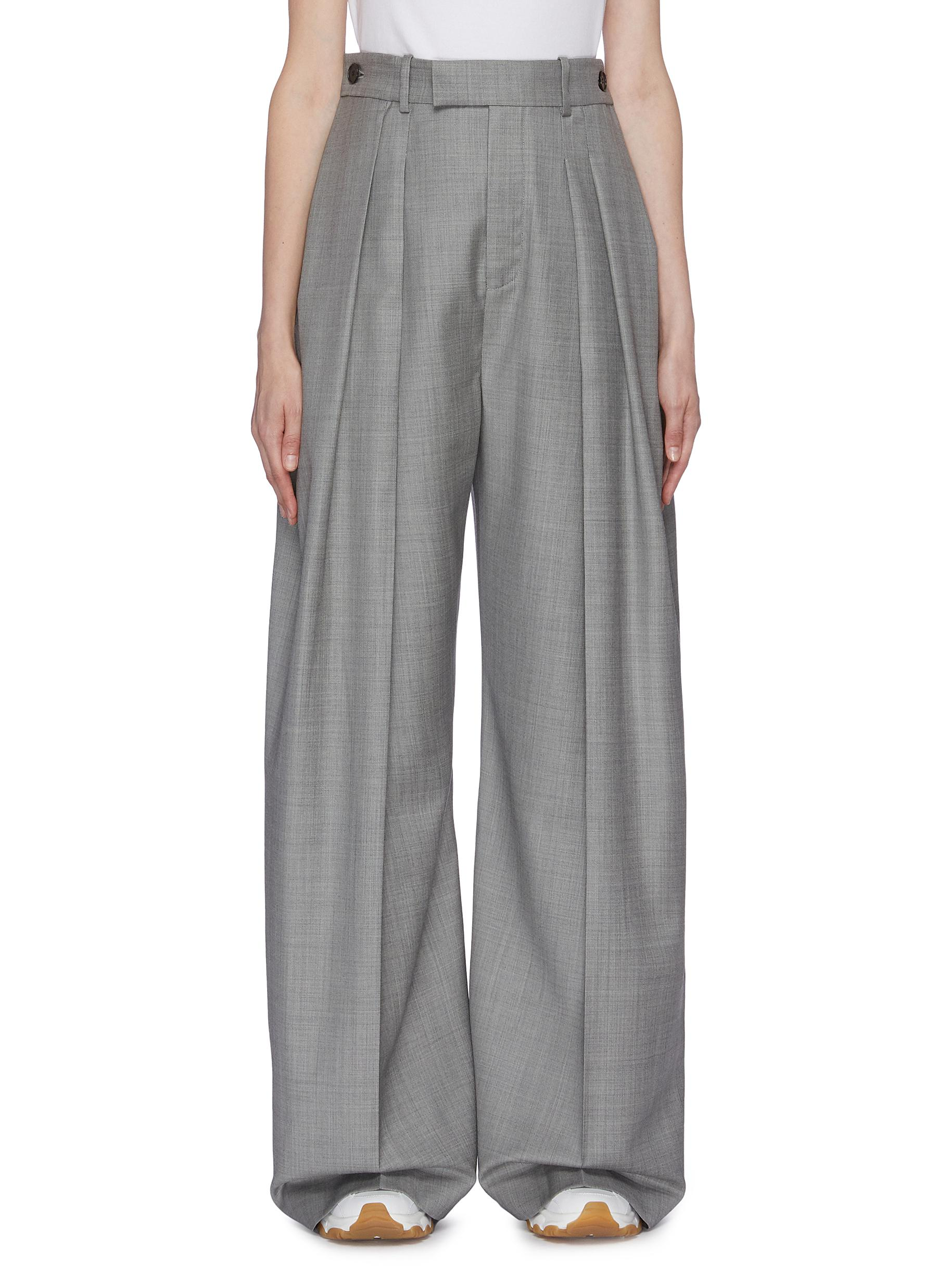 Pleated wide leg suiting pants by Jw Anderson