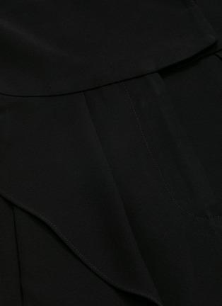- BIANCA SPENDER - Ruffle side crepe sleeveless blazer jumpsuit