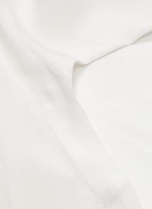 - BIANCA SPENDER - Tie side silk crepe shirt