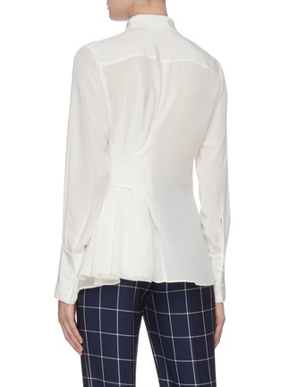Back View - Click To Enlarge - BIANCA SPENDER - Tie side silk crepe shirt
