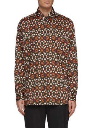 Main View - Click To Enlarge - JOSEPH - Geometric print shirt