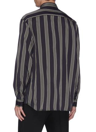 Back View - Click To Enlarge - JOSEPH - Stripe herringbone shirt