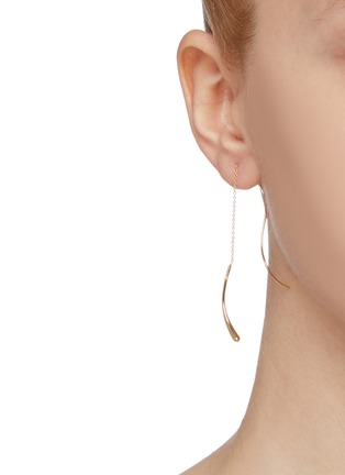 Figure View - Click To Enlarge - OLIVIA YAO - 'Castor' wavy bar chain drop earrings