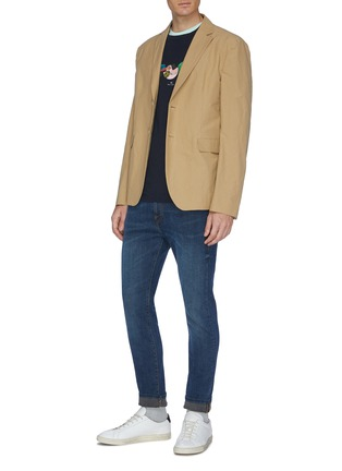 Figure View - Click To Enlarge - PS PAUL SMITH - Washed slim fit jeans