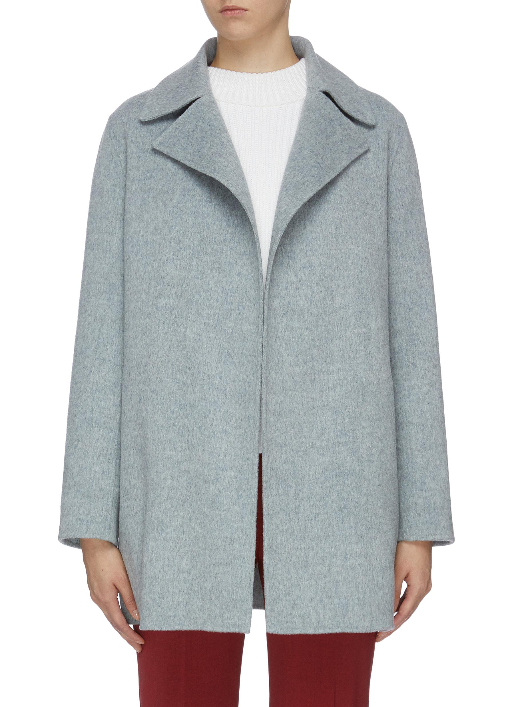 Wool-cashmere melton coat by Theory