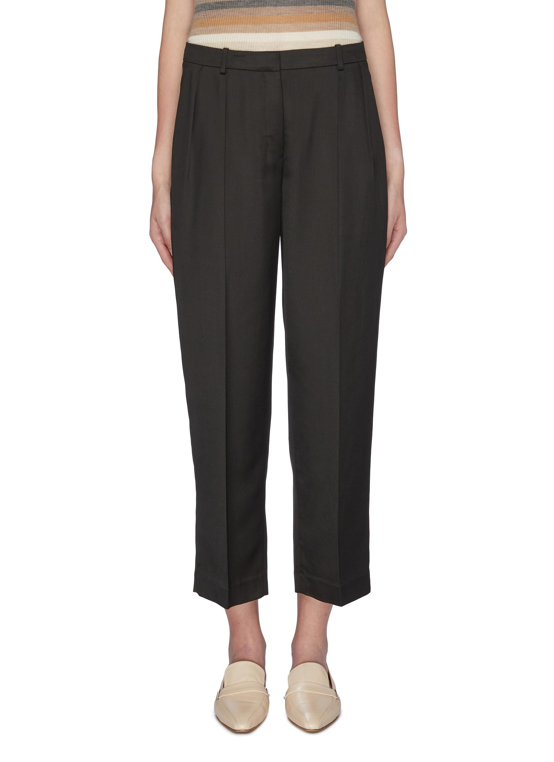 Cropped twill pants by Theory
