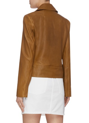 Back View - Click To Enlarge - THEORY - Lambskin leather moto jacket
