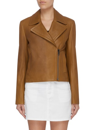 Main View - Click To Enlarge - THEORY - Lambskin leather moto jacket