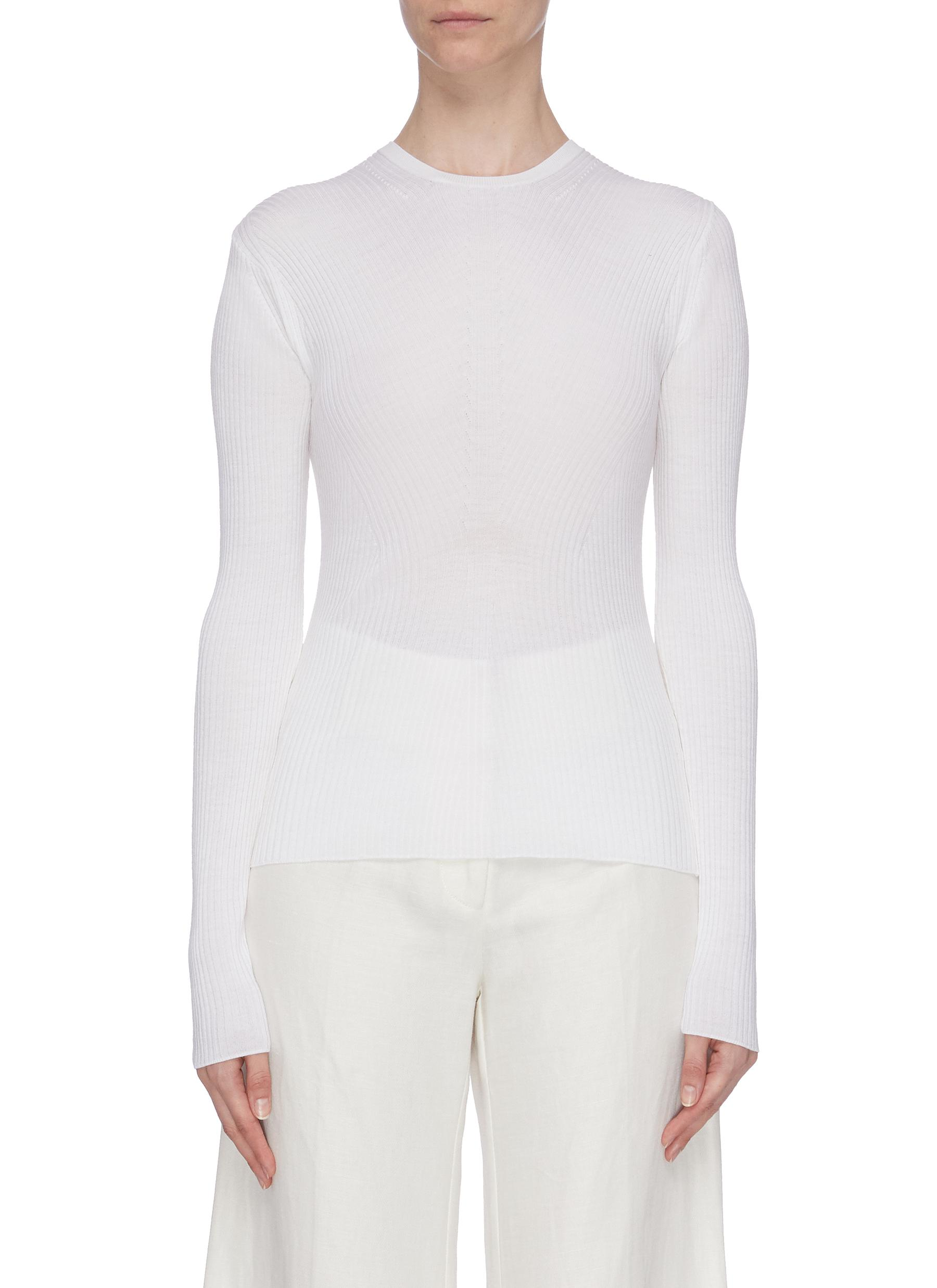 Crew neck rib top by Theory