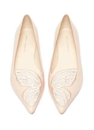 Detail View - Click To Enlarge - SOPHIA WEBSTER - 'Bibi Butterfly' wing embroidered leather flats