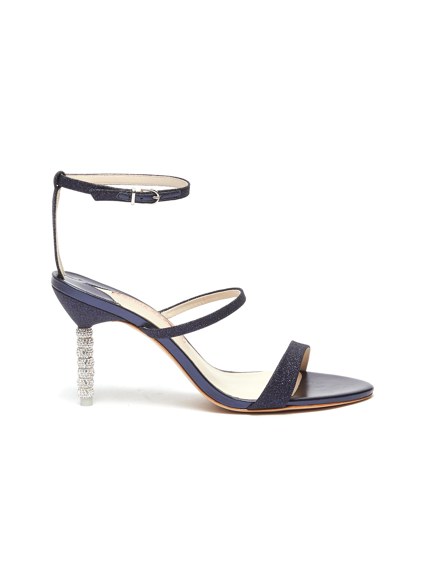 Rosalind crystal pavé bead heel sandals by Sophia Webster