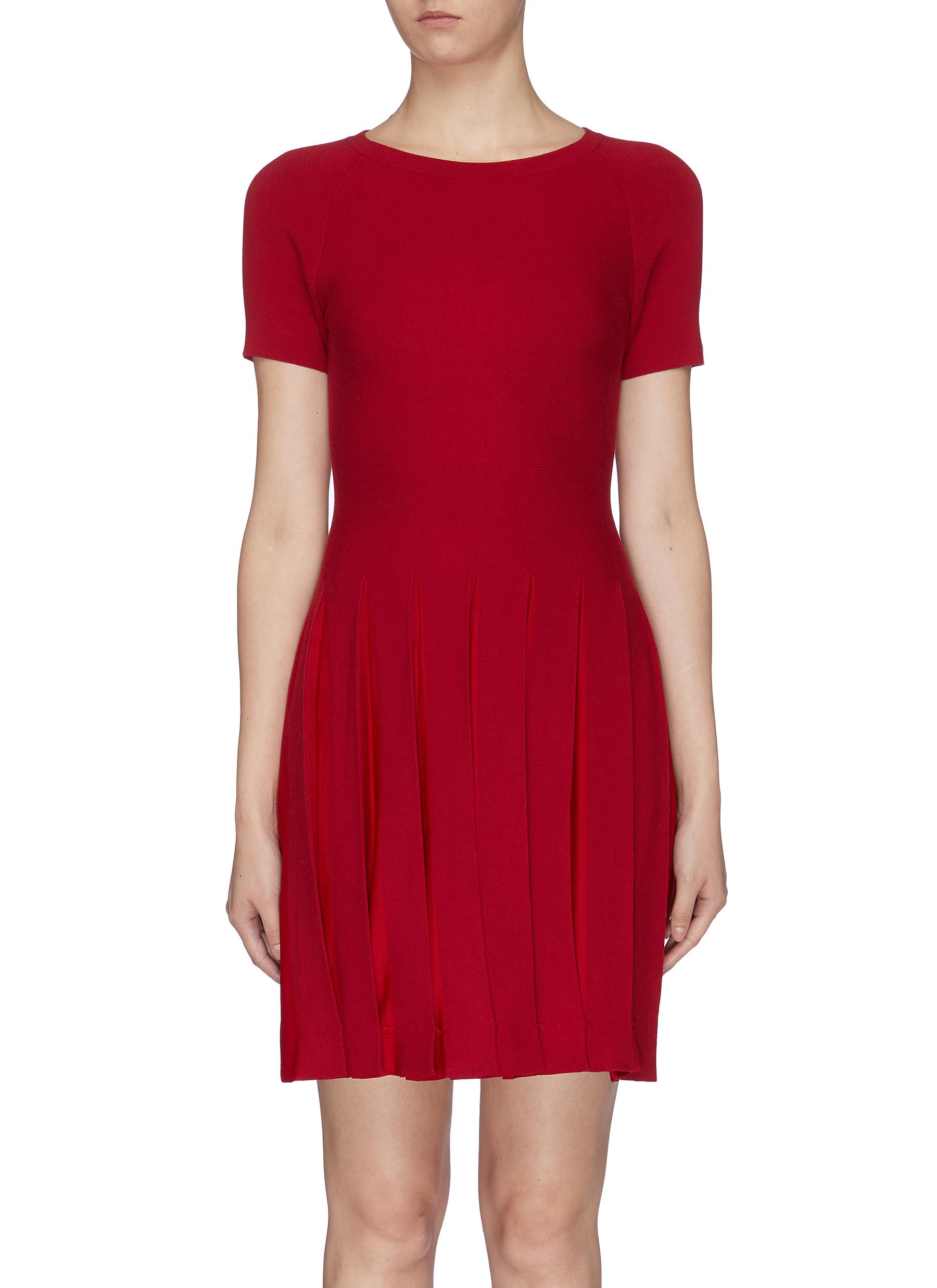 Pleated hem T-shirt dress by Theory