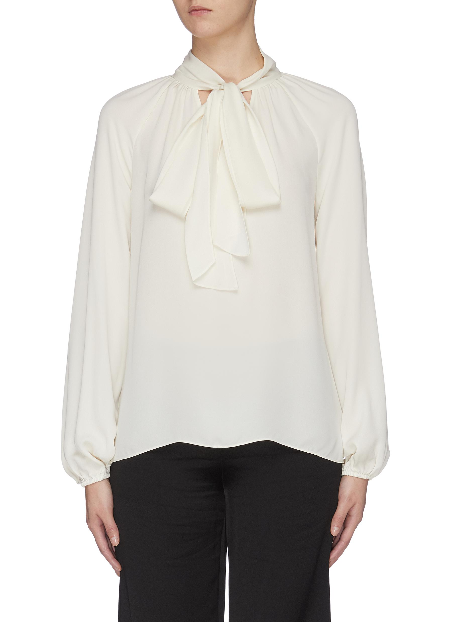 Sash tie neck top by Theory
