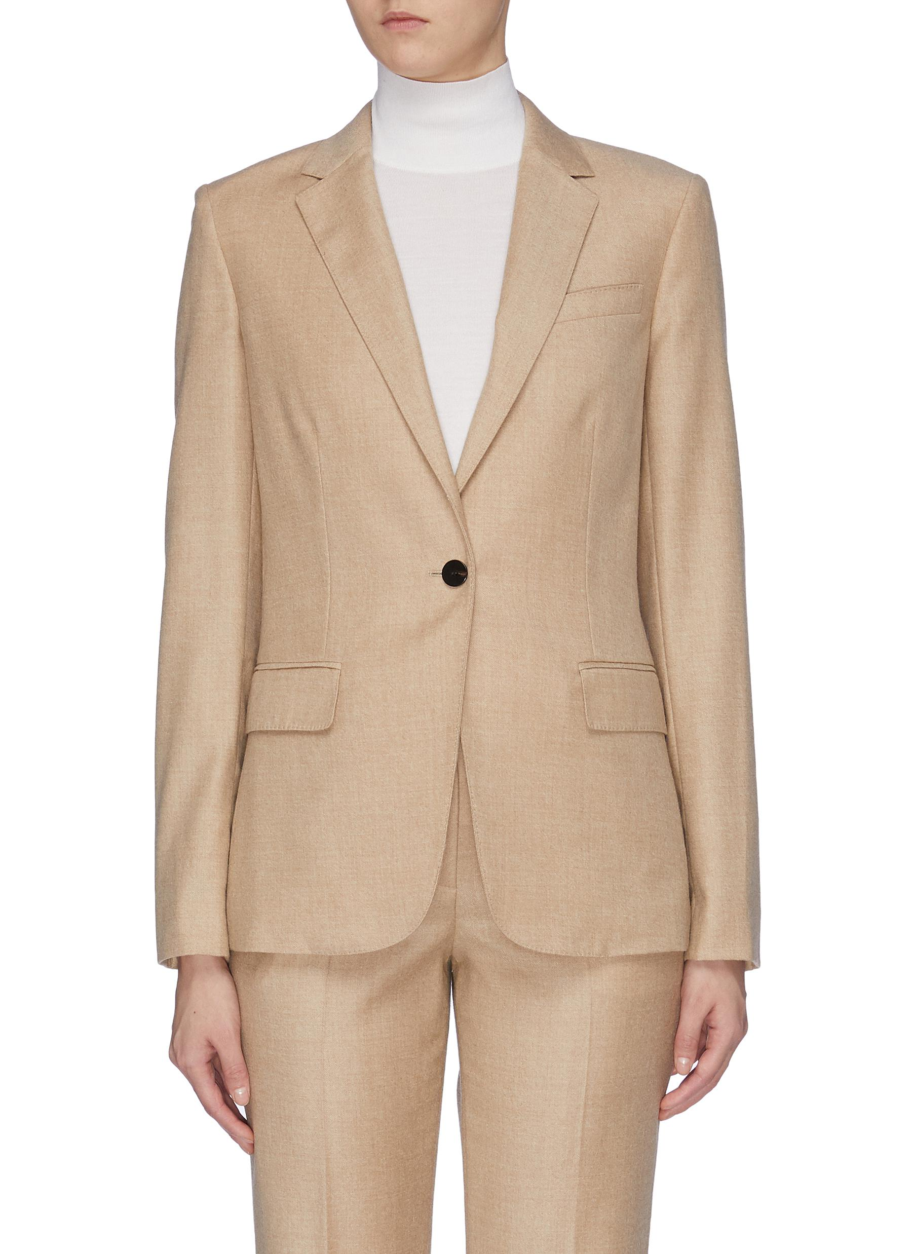 Staple peaked lapel crepe blazer by Theory