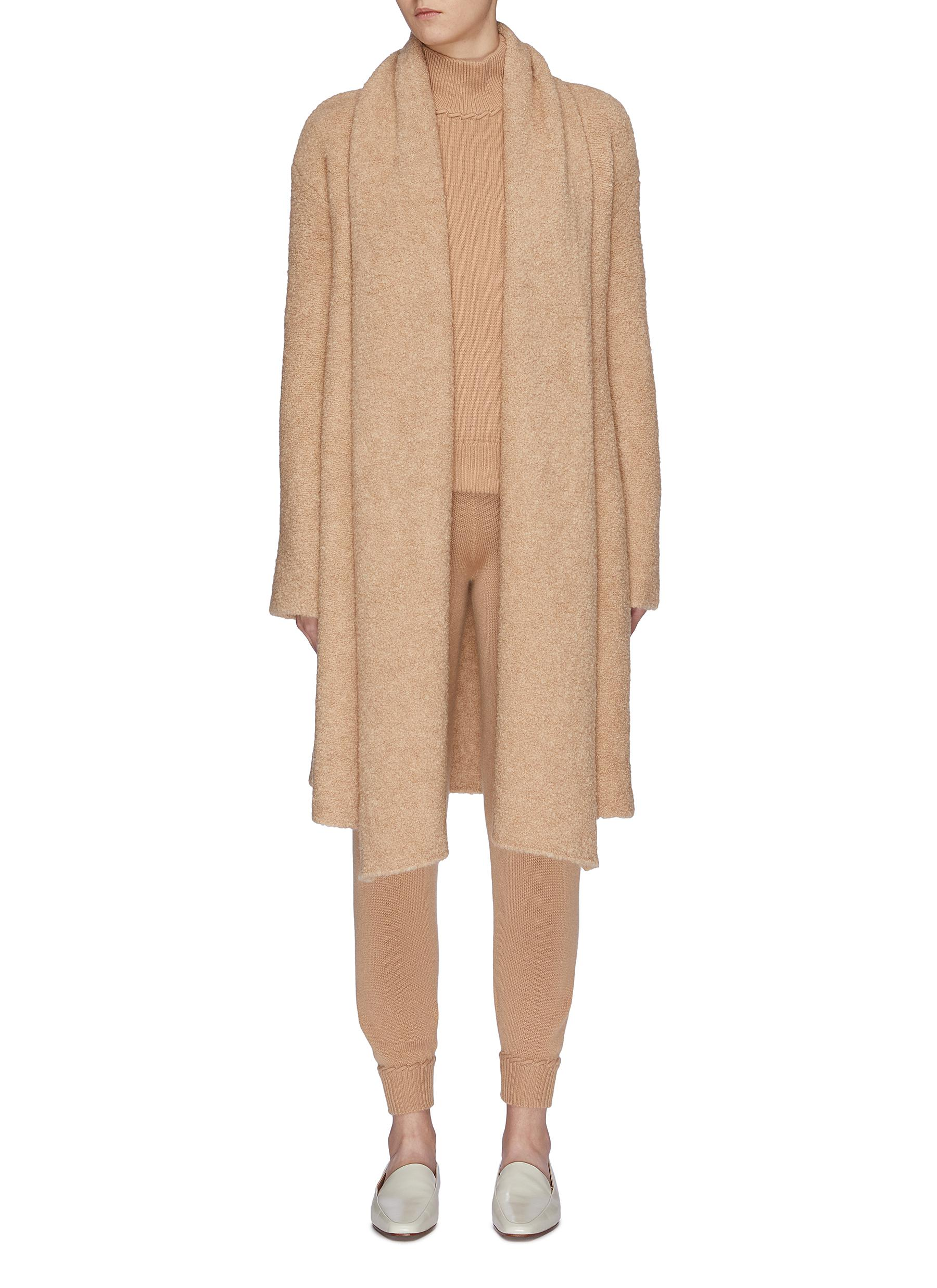 Drape panel bouclé cardigan by Theory