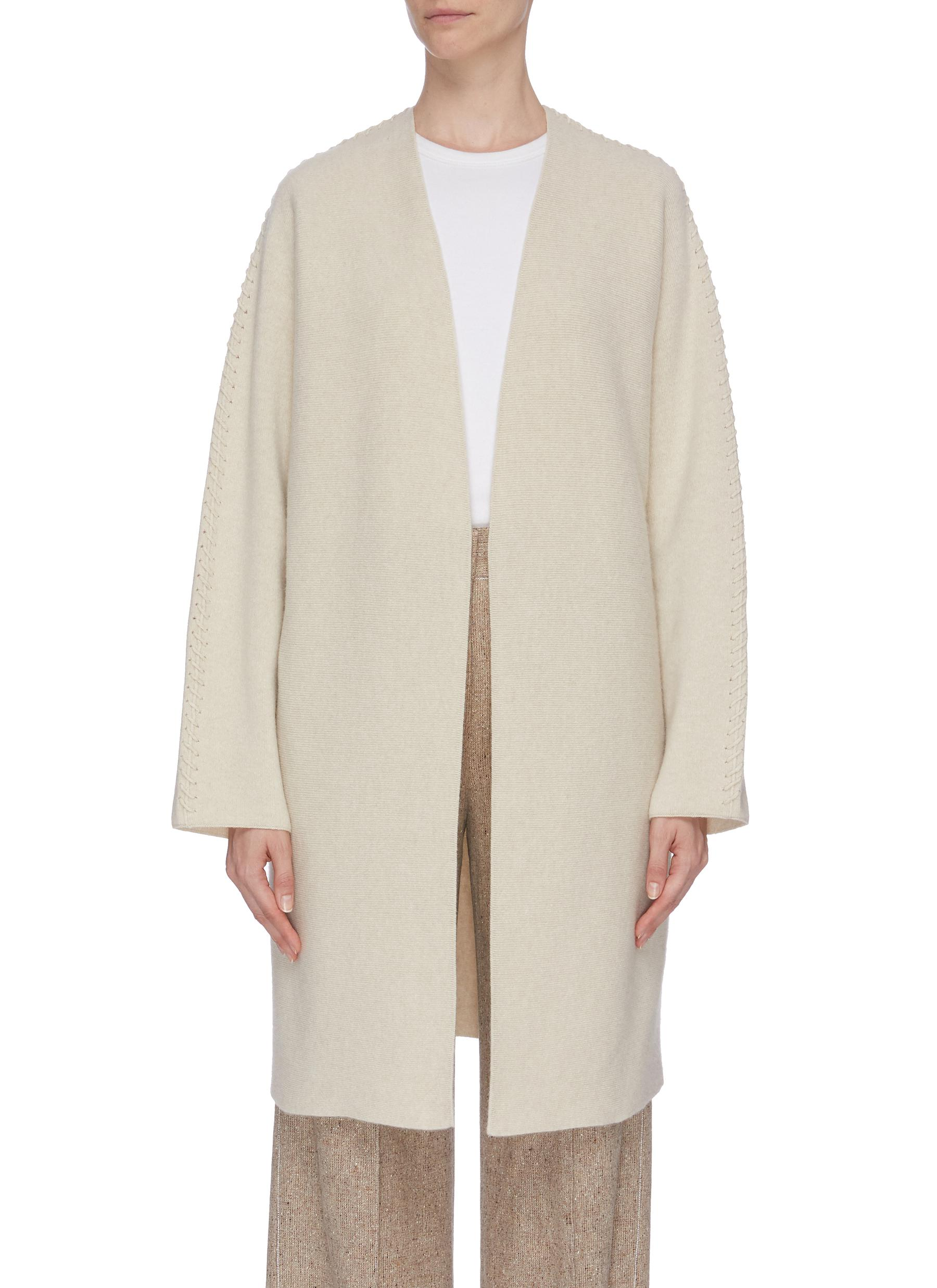 Whipstitch open coat by Theory