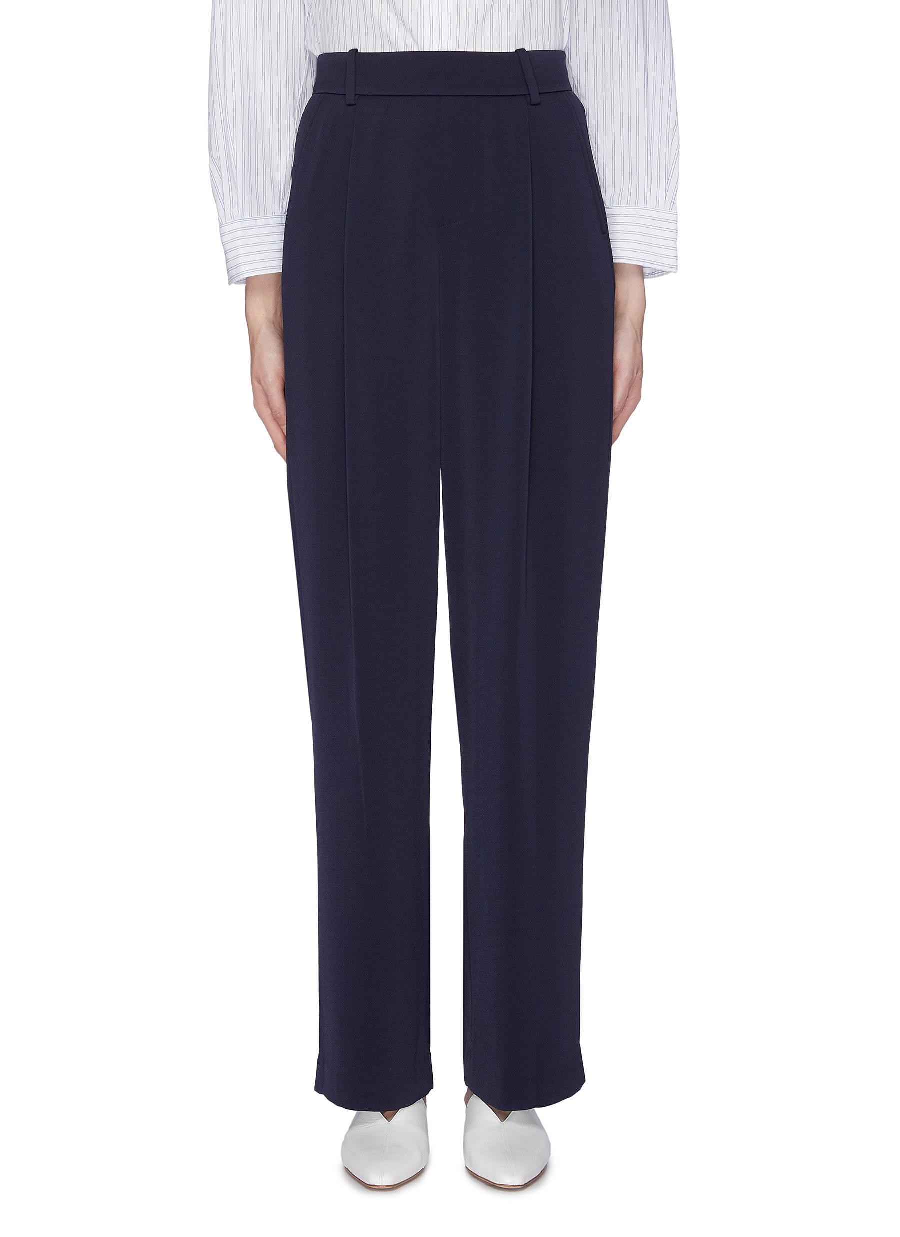 Pull On satin wide leg pants by Vince