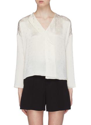 Main View - Click To Enlarge - VINCE - Dot jacquard silk satin blouse