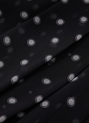 - VINCE - Chiffon overlay polka dot print skirt
